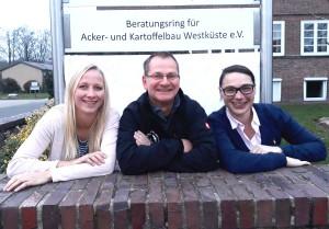 Das Team vom Beratungsring für Acker- und Kartoffelbau Westküste e.V. Ellen Rühmann, Thomas Hanf und Jana Geldermann. Quelle Beratungsring Westküste